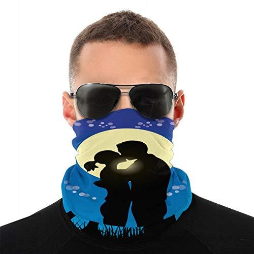 Liebhaber küssen Paar Silhouette Sturmhaube Sport Bergsteigen Ski Outdoor Winddichte Radsport Gesichtsmaske Masken & Schilde
