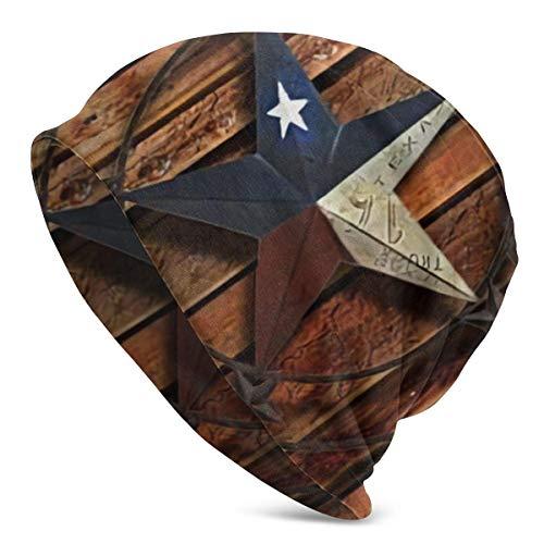 Zhgrong Western Texas Star Winter Beanie Knit Sombreros Cálido elástico Confort y...