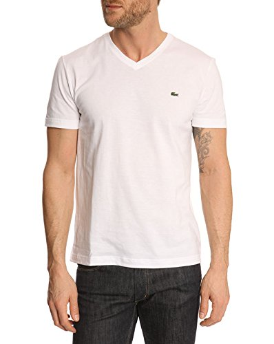 Lacoste TH2036-00 - T-shirt - Homme, blanc (White), Medium