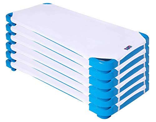 """ROLLEE POLLEE Microfiber Cot Sheets with Elastic Loops for Extra Security Standard Size 22"""" x 51.5"""", Super Soft, Perfect for Preschool and Daycare (White 6-Pack)"""