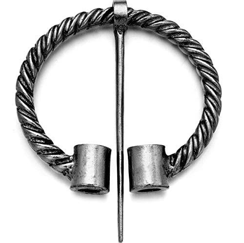 Broche retro Twists anudado con capa de fibula Pin de manto de alfiler estilo chal Pin Pin - Estilo1-lata antigua