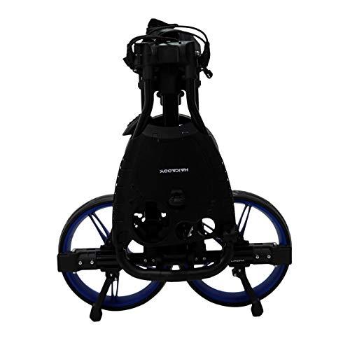tour made Haicaddy Travel Flat HC1 3-Rad Push-Trolley Golf-Trolley Golf-Caddy (schwarz-blau) - 4