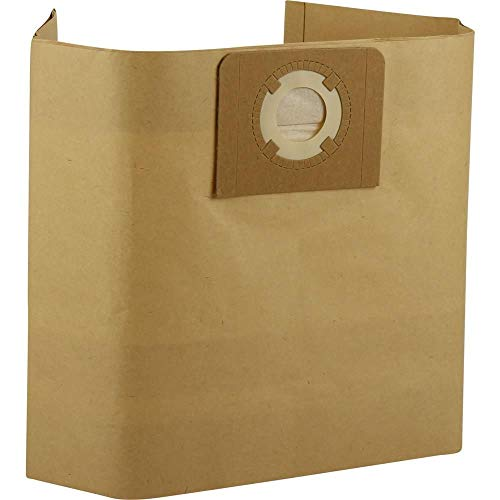 12 Staubsaugerbeutel geeignet für Bavaria BVC 1815 S Nass- und Trockensauger/Industriesauger, Staubbeutel aus Papier mit Stabiler Pappdeckscheibe, Beutel mit ca. 30 Liter Volumen