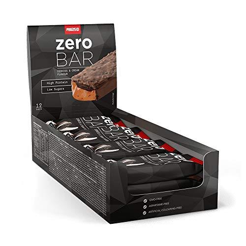 Prozis Zero Bar, Barrita con bajo contenido en azúcares, Galletas y Crema - 12 x 40 g