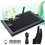 Parblo A610s Graphic Drawing Tablet with 8192 Pressure Sensitivity Stylus Pen, 5080 LPI Resolution, 10' x 6' Drawing Tablet with 8 Hot Keys for Digital Art Works, Drawing, Sketch, Design, Paint