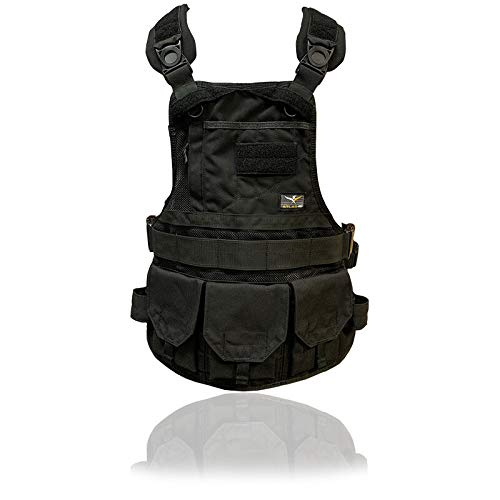 Atlas 46 JourneyMESH Chest Rig with Cargo Pockets, Black