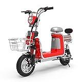 MRMRMNR Bicis Electricas Mujer, 48V 400W Bicicleta Adulto Hombres, Ciclomotor Eléctrico De Ciudad Masculino Y Femenino,2 Modos De Carga, Rango De 40~85 Km, Mayordomo Principal Cargado