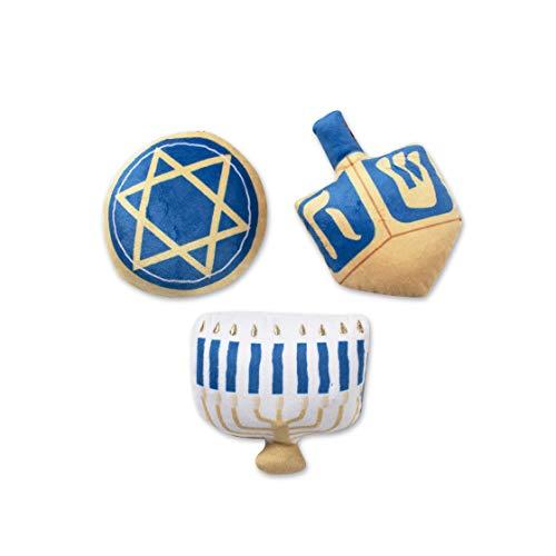 Fringe Studio Mini Dog Toy Set, Hanukkah, Set of 3 (289475)