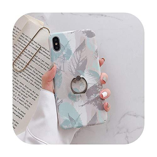 phonecase - Carcasa para iPhone 11 Pro Max para iPhone SE, Xr Xs Max 7, 8, 6, 6S Plus, diseño de hojas, funda para teléfono