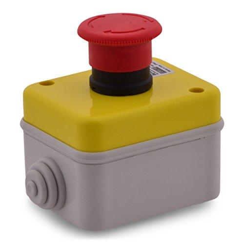 Arresto di emergenza pulsante Not presa interruttore pulsante a fungo Emergency arresto di emergenza fungo push button IP541No + 1NC 10a 400V