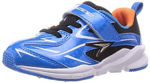[シュンソク] スニーカー 運動靴 幅広 軽量 15~23cm 3E キッズ 男の子 SJC 8970 ライトブルー 17.5 cm