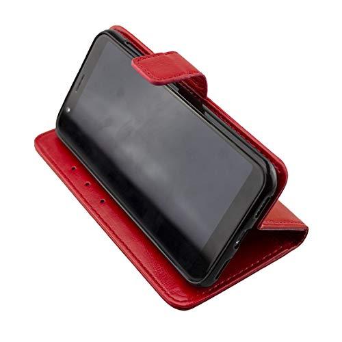caseroxx Tasche für Gigaset GS185 Bookstyle-Hülle in blau (Bookstyle- Hülle mit & ohne Bildschirmschutz) (Bookstyle- Tasche, rot)