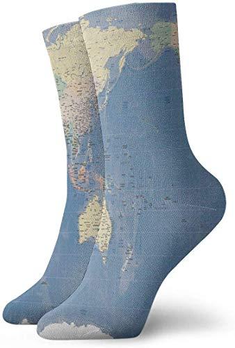 BEDKKJY Crew Sokken Wereldkaart Japan Relief Gall Kaart Grote Unisex Jurk Stocking Party Sock voor Meisjes