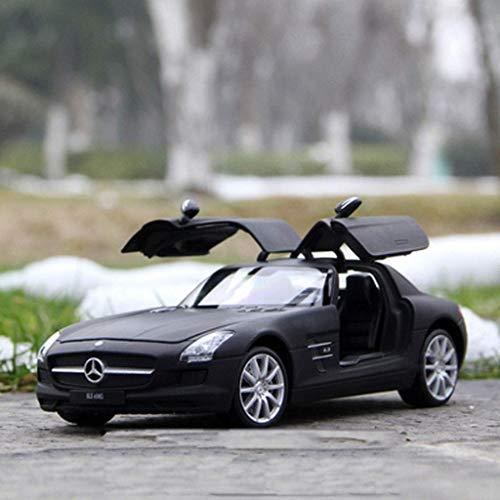 toy Junge, Mädchen, Kind, Auto Modellbildungsspielzeug, Modellauto 1:24 Mercedes - Mercedes-Benz Amg Gtr Legierungsauto Modell Metallauto Modell Spielzeugauto Geburtstagsgeschenk (Farbe: Slsamg Schwa