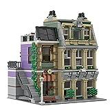 Bulokeliner Modelo de bloques de construcción Street View para casa, 2444 piezas, kit de construcción de policía Crown Jewel MOC-72506, bloques de construcción compatibles con Lego 10278