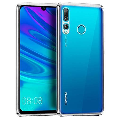 iGlobalmarket Huawei P Smart Plus (2019) / P Smart (2019) / Honor 10 Lite / 20 Lite, Funda Trasera, Borde Plata
