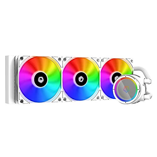 ID-COOLING ZOOMFLOW 360X Snow CPU Water Cooler 5V Addressable RGB AIO Cooler 360mm CPU Liquid Cooler 3X120mm RGB Fan, Intel 115X/1200/2066, AMD AM4