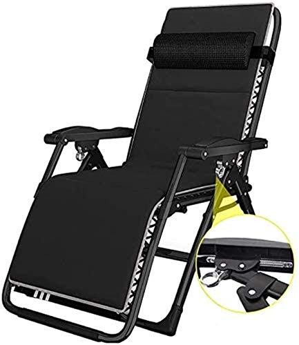 Classic Lounge Chairs Sun Lounger/Folding Comfort Sling Chair Recliner Zero Gravity with Headrest, Outdoor Camping Travel Beach Garden Fishing Chair Deck Chairs,Sunlounger