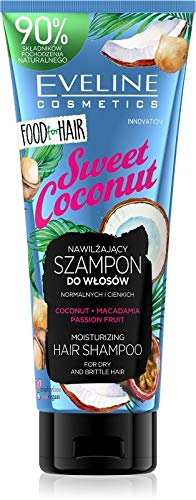 Eveline Cosmetics Nourriture pour Cheveux Shampooing Hydratant Coco 250 ml