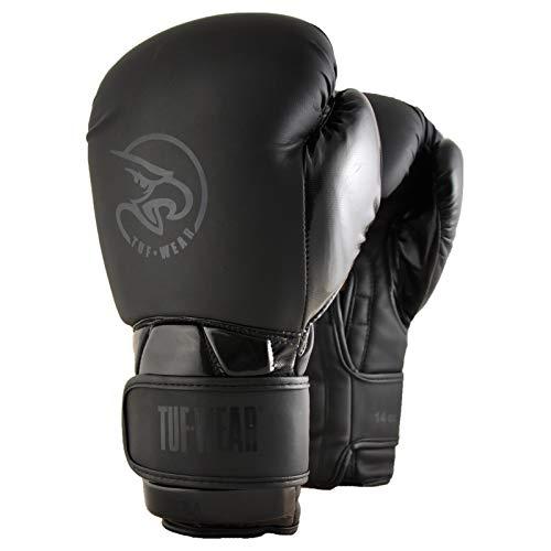 TUF WEAR Boxhandschuh, Schwarz, Schwarz, 283,5 g (10 oz)