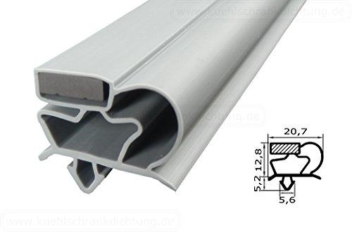 Magnetdichtung Profil groß C - 2500mm inkl. Magnetband - Farbe: Grau (Kühlschrankdichtung)