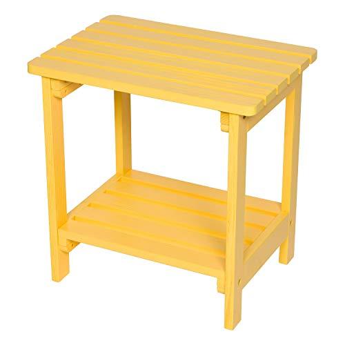 Oak Round Side Table Shine Company 4118OA Adirondack Folding Hydro-TEX Finish