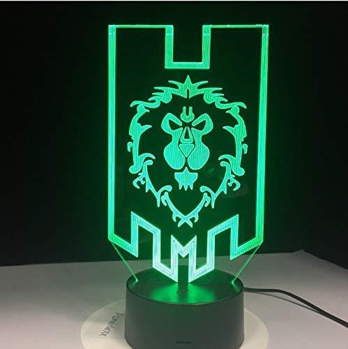 Led 3D Lampe Die Alliance Tribal Signs Nachtlicht Usb Dekorative Tischlampe Geschenk Für Kinder