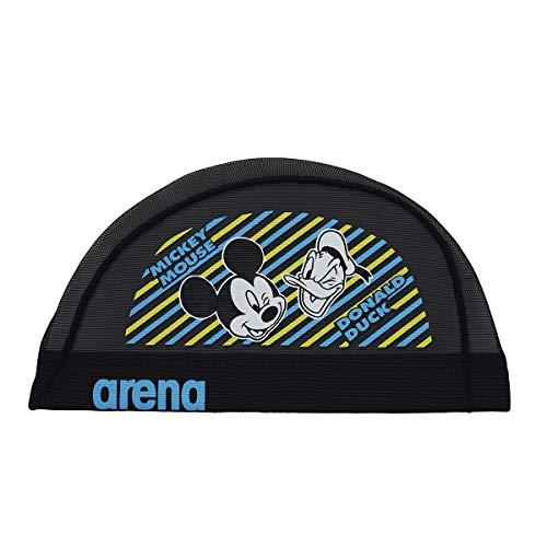 arena(アリーナ) スイムキャップ スイミングキャップ メッシュ ディズニー ミッキー&ドナルド DIS-9360 (BLK)ブラック S