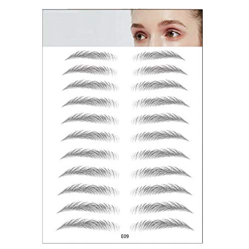 Luckine 3D Stick-On sourcils autocollant oeil autocollant, autocollants de sourcil de tatouage naturel paresseux, toilettage forme modèle de sourcil autocollants sourcil