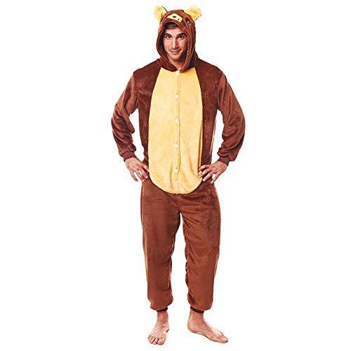 Pijamas Enteros de Animales Adultos Unisex (Tallas de Adultos S a L) Disfraz Pijama Oso Pardo Mono...