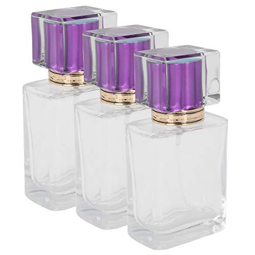 Flacon transparent portable pour huile essentielle, maquillage, sac à main pour parfum (violet)