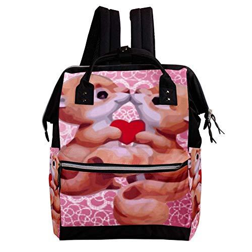 Love Fox Sac à dos pour couches à grande capacité pour bébé Sac à bandoulière de voyage multifonctionnel Sacs à langerSac de soins infirmiers Mode Momie Spacieuse pour femmes Hommes