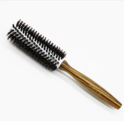 VLUNT Brosse à Cheveux Ronde Résistance à Haute Température, Brosse à Cheveux Décoratifs Brosse à Cheveux Sanglier, pour Séchage et Coiffure