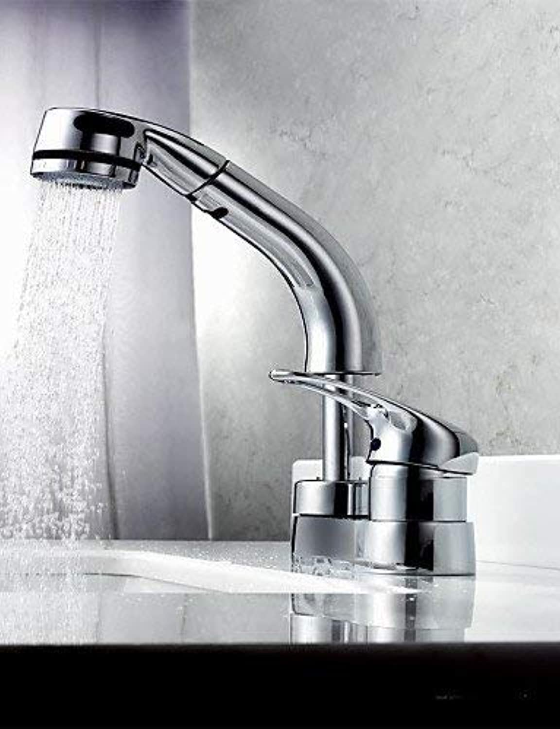 MONFS HOME Widespread Single Handle Three Holes in Chrome Bathroom Sink Faucet