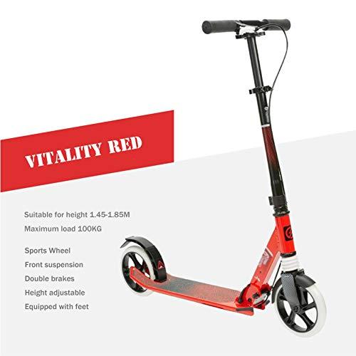 90GJ Scooter para Adultos Patinete Plegable de 2 Ruedas, Sistema Plegable de...
