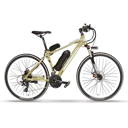 FZYE 26 inch Electric Bikes Bike Bicycle,48V/10A Lithium Battery Power Bikes Outdoor Cycling Travel Work Adult,Gold