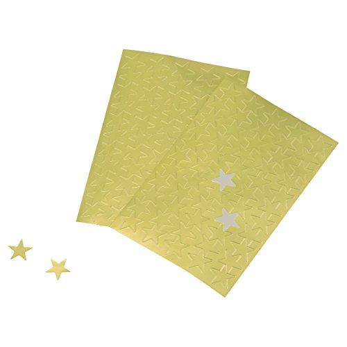Advantus ADVANTUS Self Adhesive Gold Foil Stars, 440 Labels (Z06008), Star Stickers