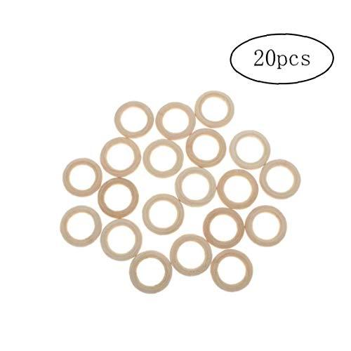 MaylFre Ringförmige Holz Linking Ringe Natur Blank Ausschnitt Runder Holz-Ring Schleife Craft-Kreis-Ring-hängende Charme-anschlüsse Schmucksachen, Die 20pcs