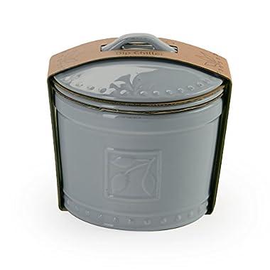 Signature Housewares Sorrento Collection 3 Piece Dip Chiller, Light Gray