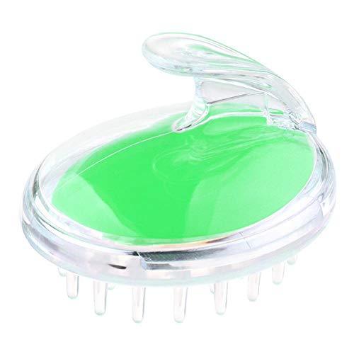 LJK Bain Lavage Shampooing Brosses Cheveux Cuir Chevelu Massage Peigne Doux Cheveux Soins Outil Douche Accessoires, Vert