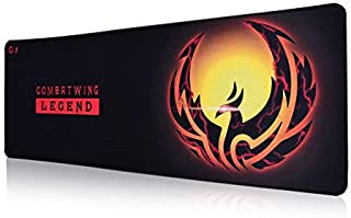 Extended Gaming Mouse Pad, 3XL Thick Computer Mousepad, Large Keyboard Mouse Mat with Non-Slip Base, Waterproof Premium-Textured Cloth, Anti-Fray Stitched Edges for Gamer, Office& Home, 30x12x1.5 inch