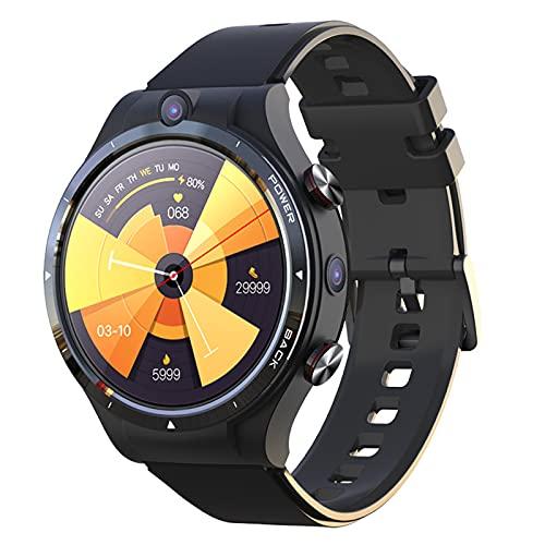 Rvlaugoaa Android 10.7 Reloj Inteligente con Doble Cámara Bluetooth 5.0 WiFi GPS Sim Llamada Reloj Inteligente Teléfono (4GB + 128GB) con 900mah Power Bank Rastreador De Ejercicios Pulsera Deportiva