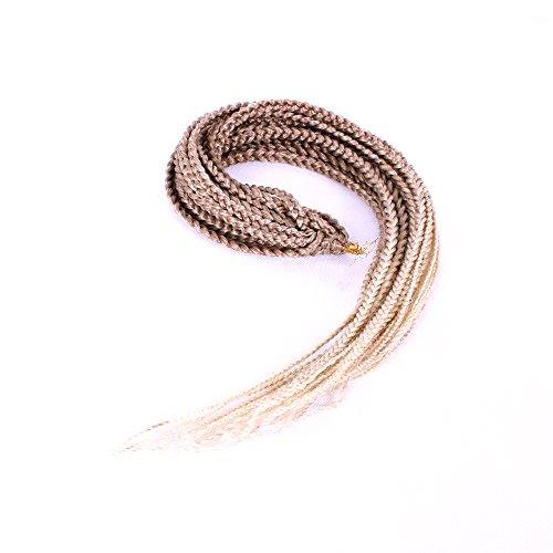 Lot de 3 extensions de cheveux synthétiques tressés Blond ombré 76,2 cm 20 racines/pièce 120 g (76,2 cm, 27-613)