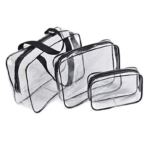 Eieren 3 stks Clear PVC Rits Toilettassen Waterdichte Reistas Waszak Make-up Bag