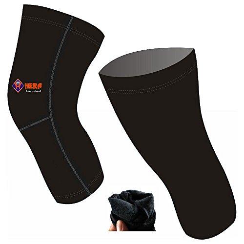 Hera International Kompressions-Kniewärmer, lang, für Radfahren/Fahrrad/Fahrrad