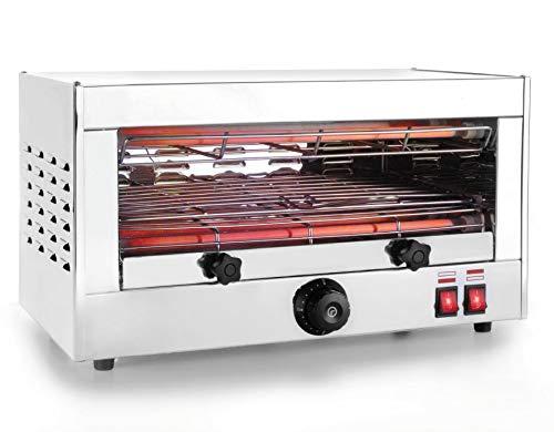 My-Gastro Salamander Grill 2400W - 320ºC Überbackgerät Toaster Ofen Backgrill Edelstahl
