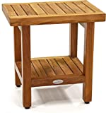 AquaTeak The Original 18' Spa Teak Shower Bench with Shelf