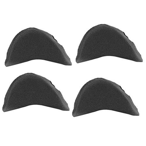 HEALIFTY Almohadilla para esponja suave para pies Brace para pies Relleno para zapatos Unisex Zapatillas para hacer zapatos grandes 2 pares (negro)
