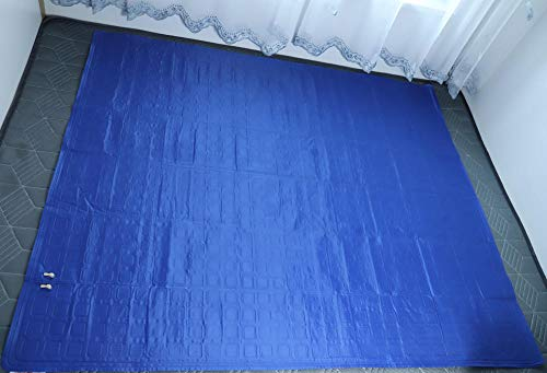 KYSZD-Escurreplatos Ice Pad Sitzkissen zirkulierende Kühlwassermatratze-1,6x1,4 m blau
