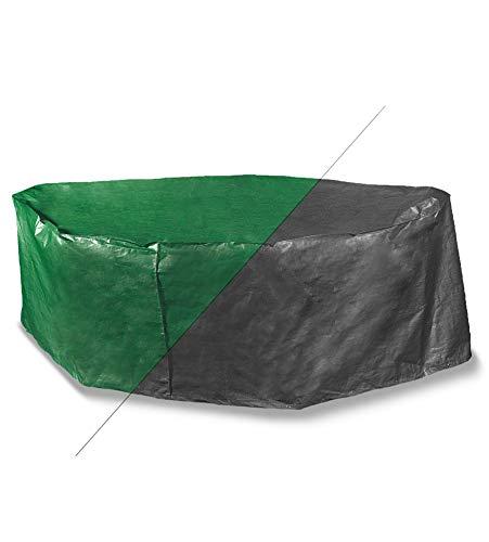 Bosmere Protector 2000 Housse de Protection rectangulaire pour terrasse – 8 Places Hauteur 90 cm – Réversible Vert et Noir